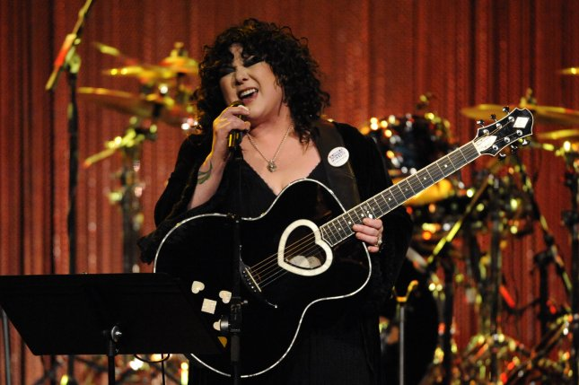 Ann Wilson, of the rock band Heart, wed her boyfriend in California on Saturday. File photo by Phil McCarten/UPI