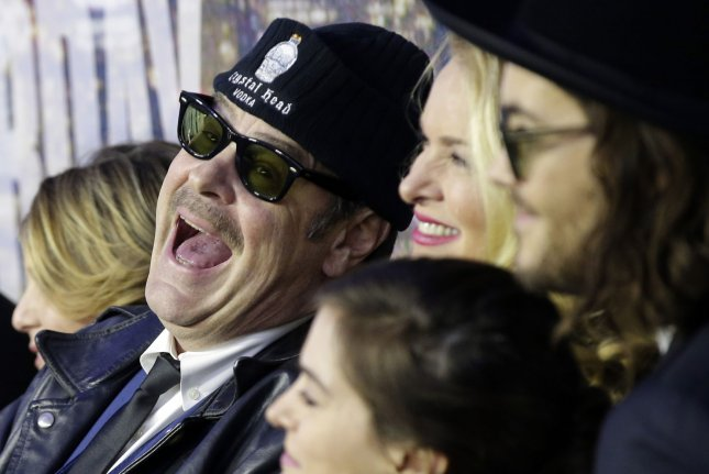 Dan Aykroyd arrives on the red carpet at the SNL 40th Anniversary Special at 30 Rockefeller Plaza in New York City on February 15, 2015. Sources confirm that Aykroyd will make a cameo in Paul Feig's upcoming 'Ghostbusters' remake. Photo by John Angelillo/UPI