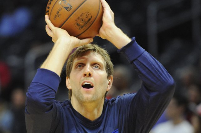 Dallas Mavericks' Dirk Nowitzki. Photo by Lori Shepler/UPI