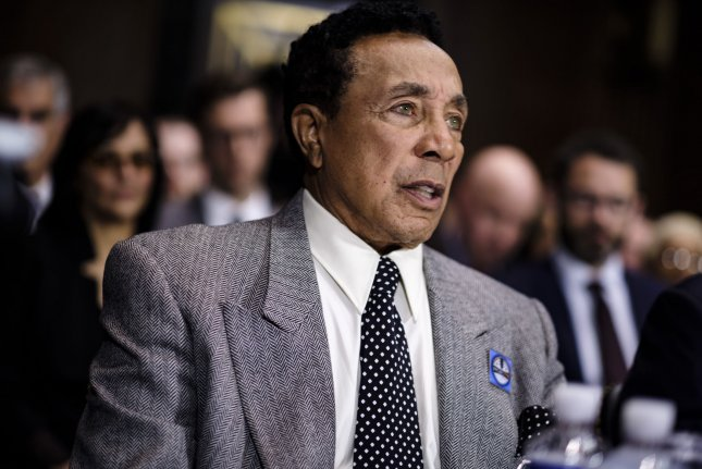 Motown legend Smokey Robinson testifies before the Senate Judiciary Committee on Capitol Hill on Tuesday. Music industry professionals testified during the hearing which was called to examine protecting and promoting music creation for the 21st century. Photo by Pete Marovich/UPI