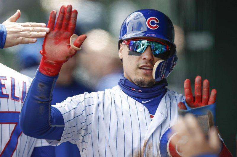 Chicago Cubs second baseman Javier Baez. Photo by Kamil Krzaczynski/UPI