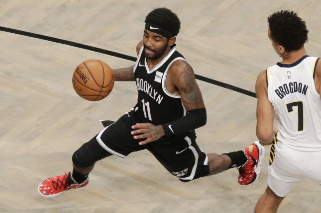 Brooklyn Nets guard Kyrie Irving is averaging a career-high 27.4 points per game this season. Photo by John Angelillo/UPI
