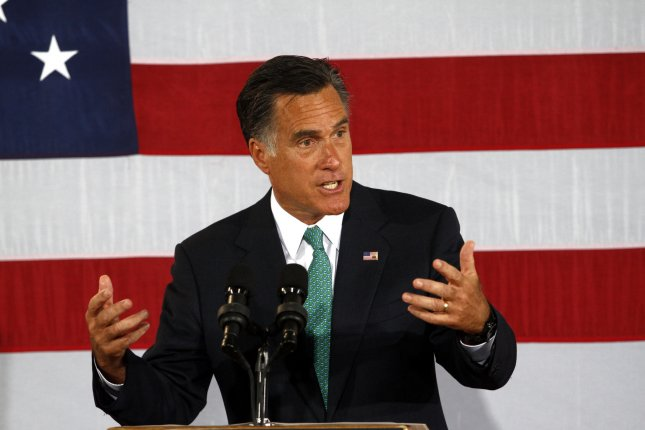 Republican Presidential hopeful Mitt Romney delivers what he called a prebuttal to President Obama's convention speech as he speaks at a campaign stop in Charlotte, N.C., Wednesday. UPI/Nell Redmond .