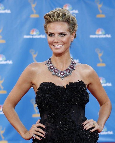Heidi Klum arrives at the 62nd Primetime Emmy Awards at the Nokia Theatre in Los Angeles on August 29, 2010. UPI/Lori Shepler