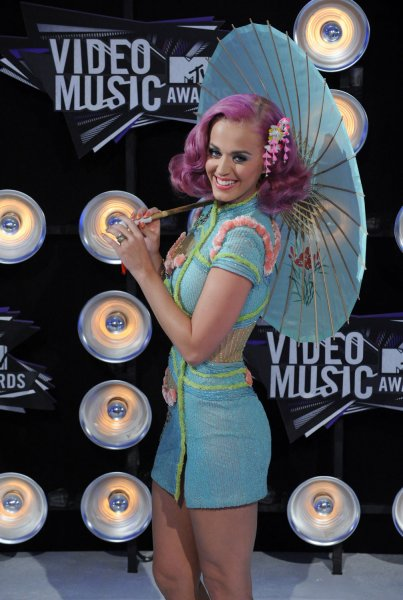 Singer Katy Perry arrives at the MTV Video Music Awards in Los Angeles on August 28, 2011 in Los Angeles. UPI/Jim Ruymen