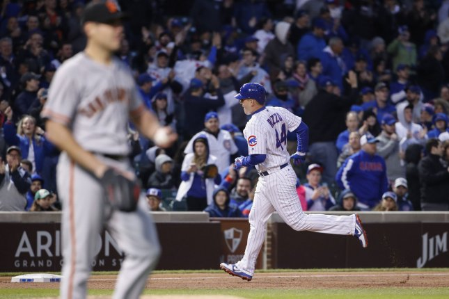 Three Cubs hit HRs in victory over Giants