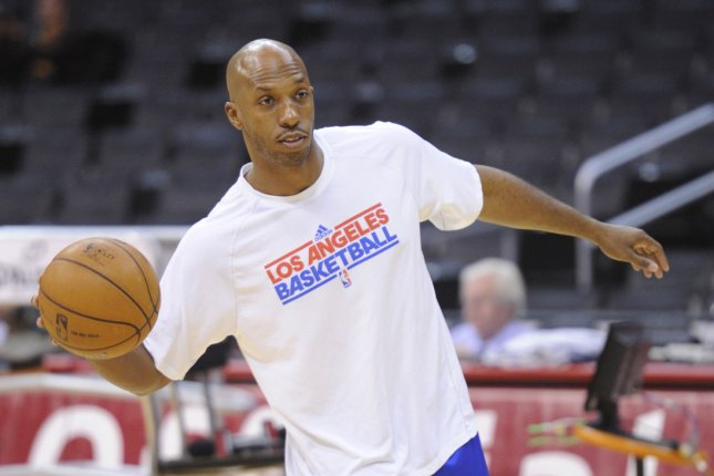 Former Los Angeles Clippers point guard Chauncey Billups practices before a game against the Utah Jazz. File photo by Lori Shepler/UPI