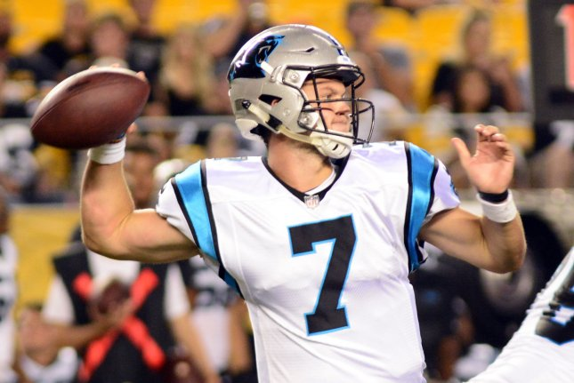 7f711f71f5c9 Carolina Panthers quarterback Kyle Allen drops back to pass during a  preseason game against the Pittsburgh Steelers on August 30
