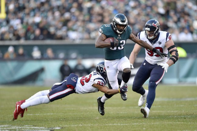 Philadelphia Eagles running back Josh Adams (33) had 511 yards and three scores in 14 games during his 2018 campaign. File Photo by Derik Hamilton/UPI