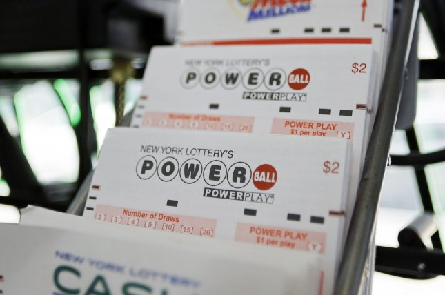 Powerball lottery is sold at a news stand in Manhattan. Photo by John Angelillo/UPI