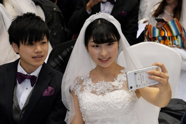 Government statistics showed that the number of couples tying the knot in South Korea reached an all-time low of 239,200 in 2019. It was 326,000 in 2020. File Photo by Keizo Mori/UPI