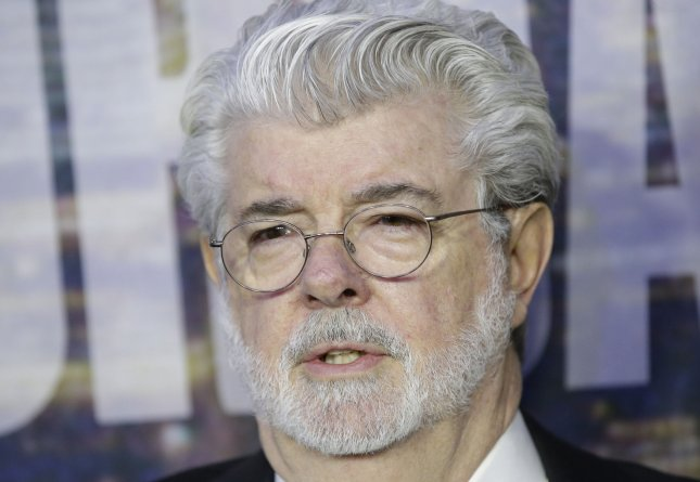 George Lucas arrives on the red carpet at the SNL 40th Anniversary Special at 30 Rockefeller Plaza in New York City on Feb. 15, 2015. Photo by John Angelillo/UPI