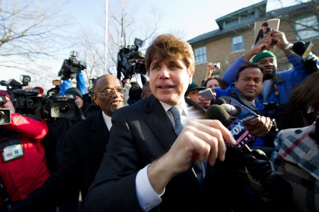 Four of former Illinois Gov. Rod Blagojevich's 18 corruption convictions were overturned Tuesday by an appeals court. File photo by Brian Kersey/UPI