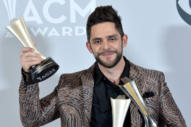 Thomas Rhett attends the Academy of Country Music Awards on April 2. The singer and wife Lauren Akins welcomed daughter Willa last week. File Photo by Jim Ruymen/UPI