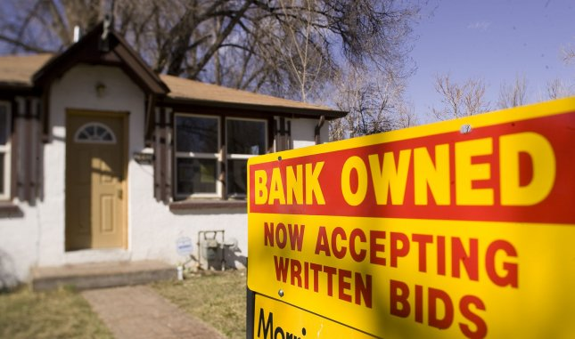A bank-owned home for sale is seen in Denver on March 6, 2009. UPI/Gary C. Caskey