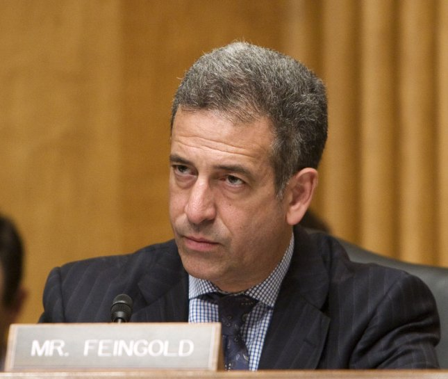 Then Sen. Russell Feingold, D-WI, speaks during the meeting of the US Senate Foreign Relations Committee Hearing on the Crisis in Tibet on Capitol Hill in Washington on April 23, 2008. (UPI File Photo/Patrick D. McDermott)