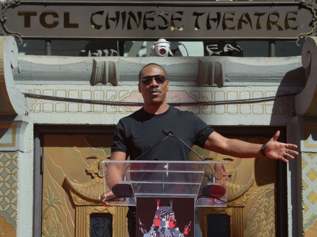 Actor Eddie Murphy speaks at a ceremony in front of the TCL Chinese Theatre in Hollywood on September 29, 2016. Murphy will star in a biopic about Rudy Ray Moore, the comedian and actor best-known for his role as 'Dolemite.' File Photo by Jim Ruymen/UPI