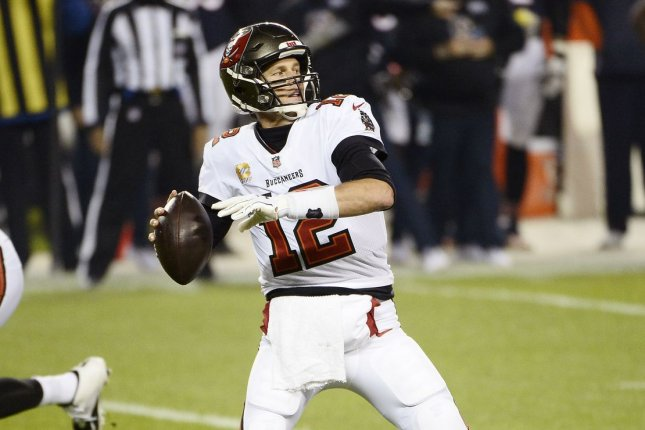 Tampa Bay Buccaneers quarterback Tom Brady completed 17 of 27 passes for 166 yards and two touchdowns in a win over the Green Bay Packers on Sunday in Tampa, Fla. File Photo by Brian Kersey/UPI