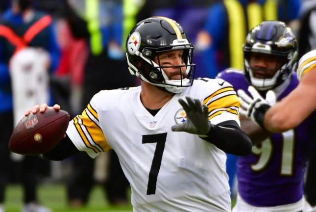 Pittsburgh Steelers quarterback Ben Roethlisberger (7) recorded 266 passing yards against the Baltimore Ravens on Wednesday. File Photo by David Tulis/UPI