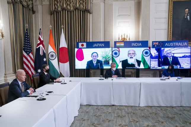 South Korea is not a member of the Quadrilateral Security Dialogue, a security cooperation partnership among the United States, Japan, Australia and India. Photo by Jim Lo Scalzo/UPI