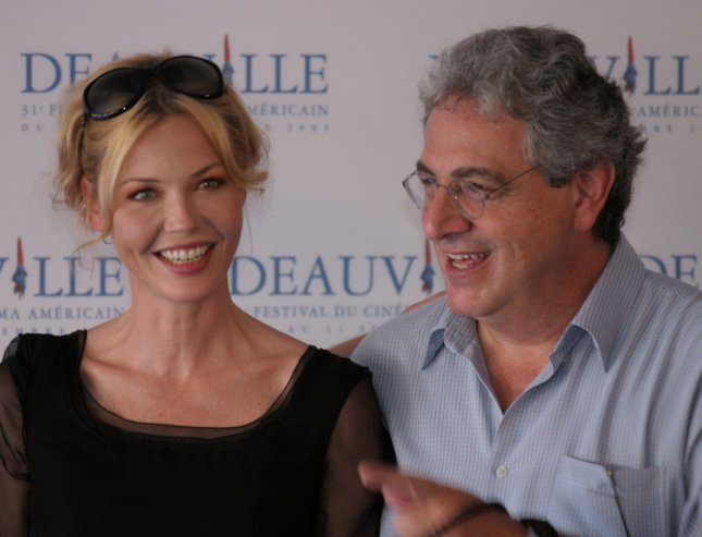 Actress Connie Nielsen and director Harold Ramis, promoting their new film The Ice Harvest, pose during a photocall at the 31st annual American Film Festival in Deauville, France, Sept. 3, 2005. (UPI Photo/David Silpa)