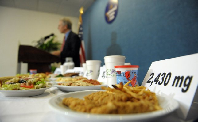 CDC: One restaurant meal can contain sodium for whole day. (UPI Photo/Roger L. Wollenberg)