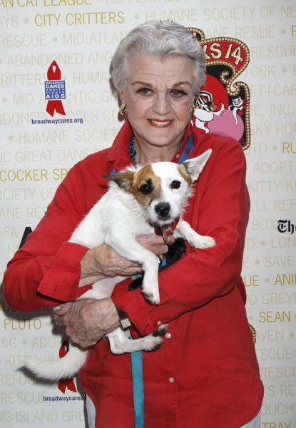 Angela Lansbury attends the Broadway Barks 14th Annual Animal Adoption Event in Shubert Alley in New York on July 14, 2012. UPI /Laura Cavanaugh
