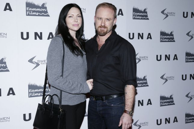 Laura Prepon (L) and Ben Foster attend a New York screening of Una on Wednesday. Photo by John Angelillo/UPI