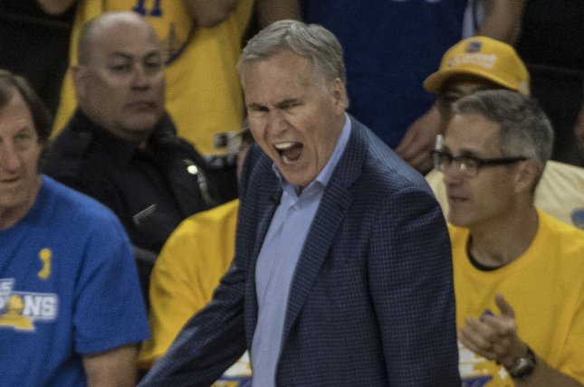 Houston Rockets head coach Mike D'Antoni has one year remaining on his current contract. He said he plans to complete the final year of his deal in the 2019-20 season. File Photo by Terry Schmitt/UPI
