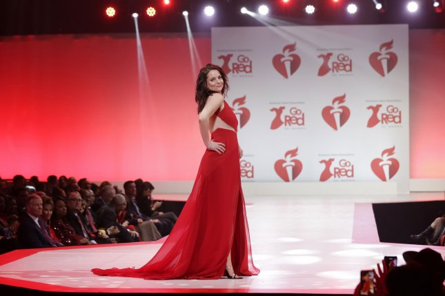 Kimberly Williams-Paisley walks on the runway at the American Heart Association's Go Red For Women Red Dress Collection 2020 at Hammerstein Ballroom on February 5 in New York City. The actor turns September 14. File Photo by John Angelillo/UPI
