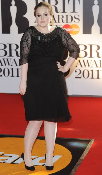 British singer Adele attends the 'Brit Awards at the O2 Arena in London on February 15, 2011. UPI/Rune Hellestad