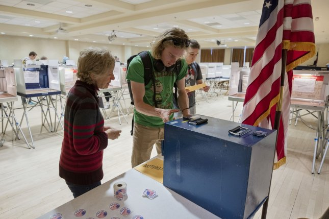 Students are shown voting in Colorado during Super Tuesday earlier this month. Since then, New York has joined several states in postponing primaries. File Photo by Bob Strong/UPI