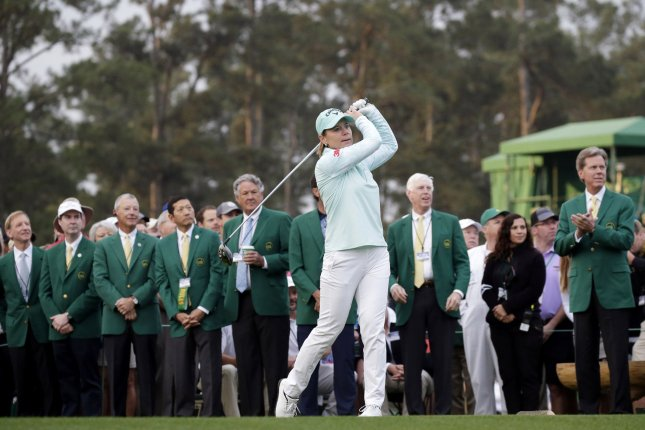LPGA legend Annika Sorenstam hits a tee ball at a special first-tee ceremony to begin the final round of the inaugural Augusta National Women's Amateur at the Augusta National Golf Club in Georgia on April 6, 2019. The golfer turns 60 on October 9. File Photo by John Angelillo/UPI