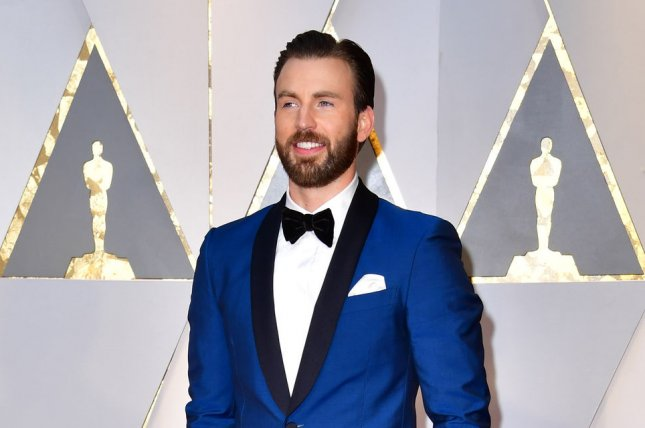 Chris Evans arrives on the red carpet for the 89th annual Academy Awards in Los Angeles on February 26. The actor has been named the next CBeebies Bedtime Stories reader. File Photo by Kevin Dietsch/UPI