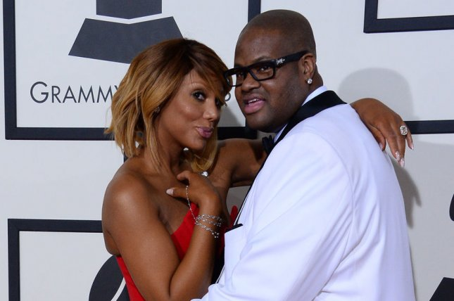 Tamar Braxton (L), pictured here with Vincent Herbert, moved to end her marriage to the music producer this week. File Photo by Jim Ruymen/UPI