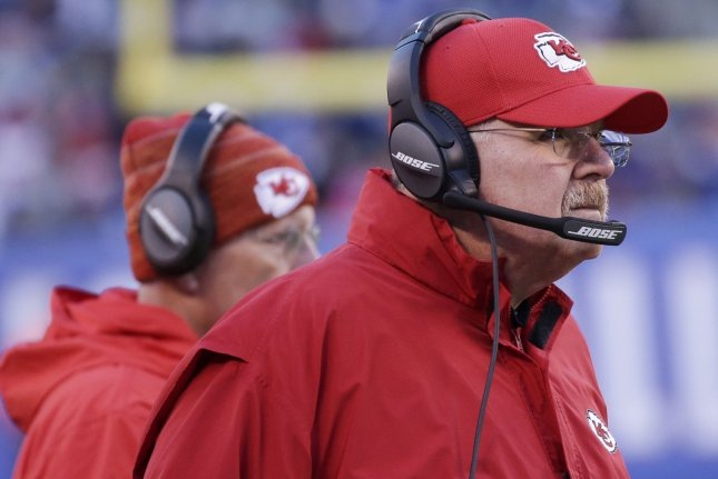 Kansas City Chiefs head coach Andy Reid stands on the sidelines in the fourth quarter in Week 11 of the NFL season on November 19 at MetLife Stadium in East Rutherford, N.J. Photo by John Angelillo/UPI