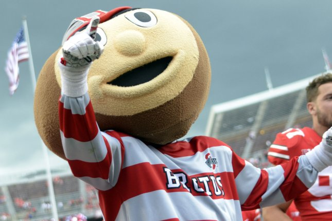 The Ohio State Buckeyes will host Alabama for the first time in school history Sept. 18, 2027, in Columbus, Ohio. File Photo by Archie Carpenter/UPI