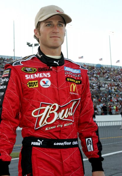 Kasey Kahne walks to his car just prior to the NASCAR Sprint Cup Coke Zero 400 at Daytona International Speedway in Daytona Beach, Florida on July 5, 2008. (UPI Photo/Martin Fried)