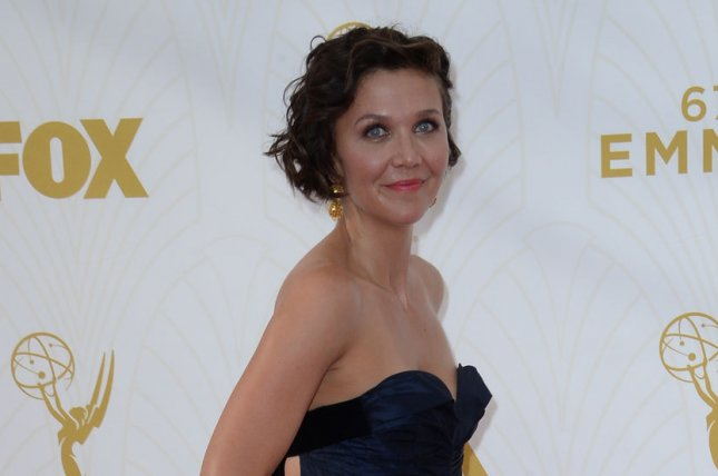 Maggie Gyllenhaal at the Primetime Emmy Awards on Sunday. The actress will star on new HBO pilot 'The Deuce.' Photo by Jim Ruymen/UPI
