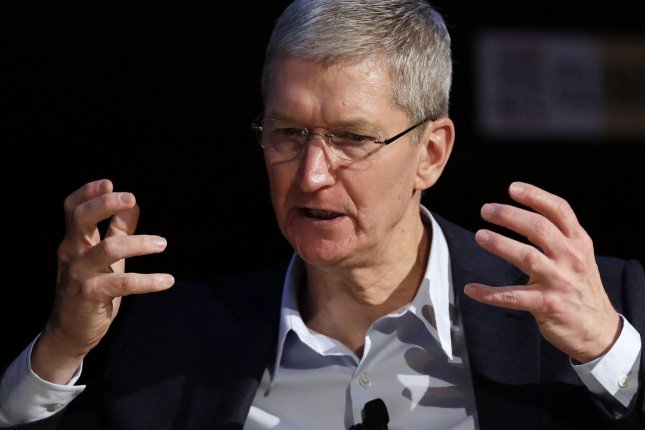 Apple CEO Tim Cook called chilling and dangerous a recent order by a judge that forces the tech giant to create a back door for the FBI to unlock the cellphone data of the San Bernardino massacre gunmen. File photo by John Angelillo/UPI