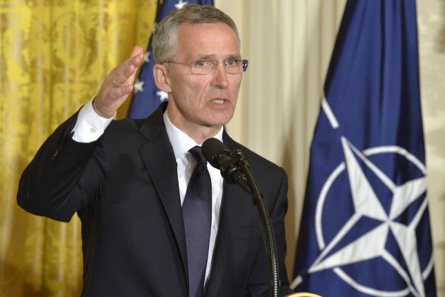 NATO Secretary General Jens Stoltenberg makes remarks during a news conference with President Donald Trump in the East Room of the White House, April 12, 2017, in Washington, DC. Trump questioned American commitment to NATO during his campaign but has approved Montenegro's joining the alliance amid increasing tension with Russia. Photo by Mike Theiler/UPI
