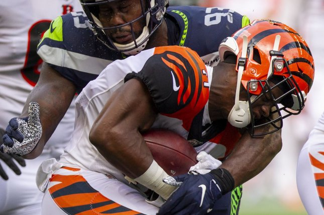 Cincinnati Bengals wide receiver John Ross (11) hasn't played in four of the team's past five games. File Photo by Jim Bryant/UPI