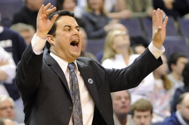 Arizona men's basketball coach Sean Miller was fired Wednesday, despite having one year left on his contract. File Photo by Mark Goldman/UPI