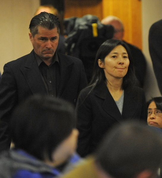 Mayumi and Richard Heene arrive for sentencing in Fort Collins, Colo., Dec. 23, 2009, for the balloon boy hoax. UPI/Rich Abrahamson/Pool