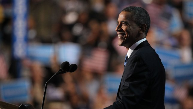 President Barack Obama gives his acceptance speech during the 2012 Democratic National Convention at the Time Warner Cable Arena in Charlotte, North Carolina on September 6, 2012. UPI/Molly Riley