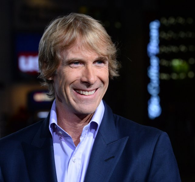 Producer Michael Bay attends the premiere of the motion picture sci-fi thriller Project Almanac in 2015. He has cast Britain's Loneliest Dog, Freya, in his newest movie, Transformers: the Last Knight. The dog, who has epilepsy, has lived in a shelter almost her entire life. File Photo by Jim Ruymen/UPI