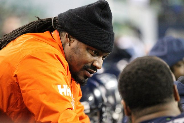 Retired former Seahawks running back Marshawn Lynch is reportedly interested in the New England Patriots if a deal with the Oakland Raiders can't be worked out. File photo by Jim Bryant/UPI