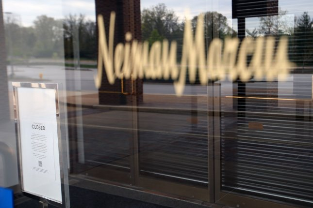 A Neiman Marcus location in Plaza Frontenac in Frontenac, Mo., is seen April 19 after it closed due to economic fallout from the coronavirus pandemic. Photo by Bill Greenblatt/UPI