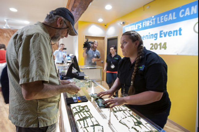 Marijuana is sold for recreational use at a cannabis shop in Seattle, Wa. New Mexico could be the next state to make the substance fully legal. File Photo by Jim Bryant/UPI