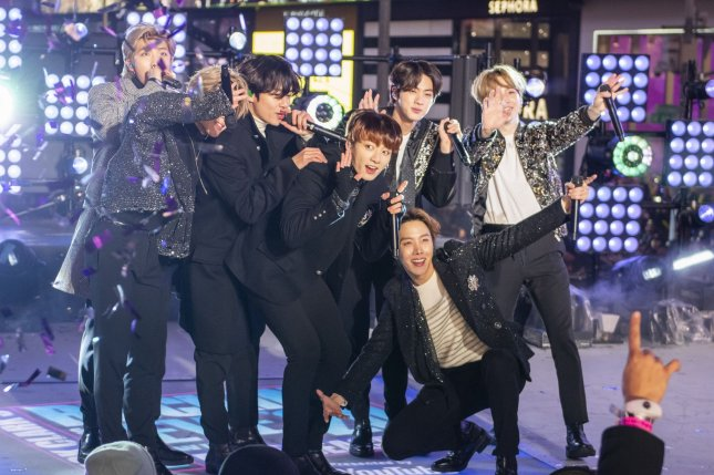 BTS performed and confirmed or denied fan rumors on The Tonight Show Starring Jimmy Fallon. File Photo by Corey Sipkin/UPI